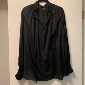 Ann Taylor blouse with tassels